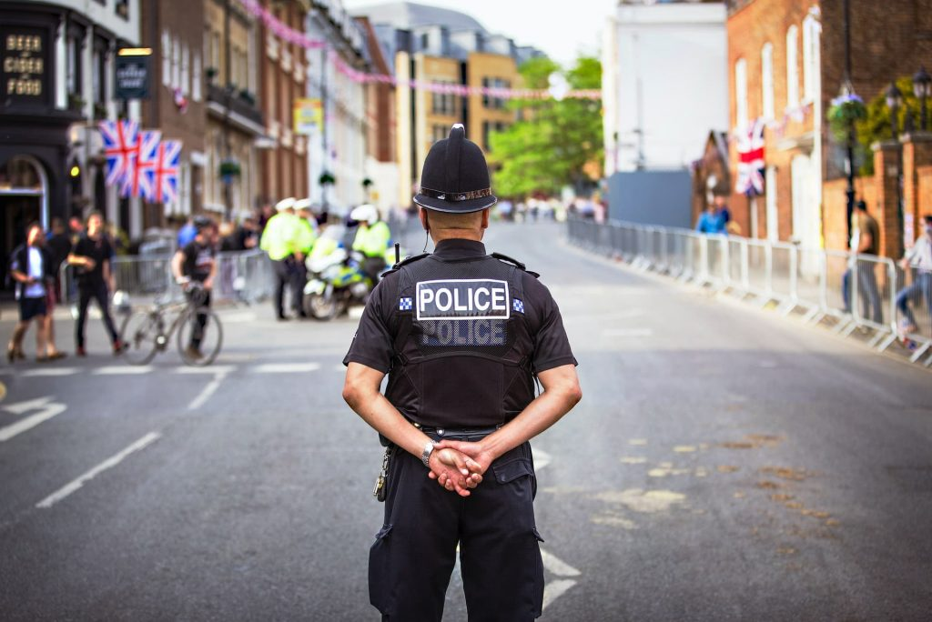 Police Officer standing in Windsor, UK